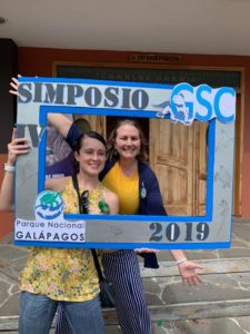 Betty Martinez and Alasia Ledford at the Galapagos Symposia