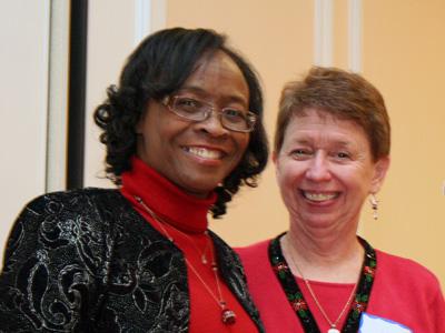 Lead Staff Representative Lees Smith with Effectiveness Award Winner Deanie Holt