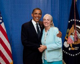 Nursing : News : Susan Pierce and Barack Obama